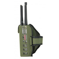 10 Watt Handheld Combination Jammer - 10 channel output to blocks GSM PHS PCS CDMA 4G LTE Wimax WiFi 5G all in one